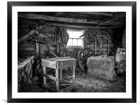 The Old Workshop, Framed Mounted Print