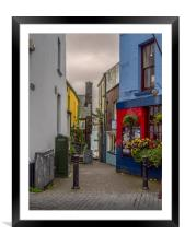 Tenby Alley, Framed Mounted Print