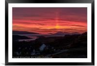 Sunset observed from Kingsburgh, Isle of Skye, Framed Mounted Print