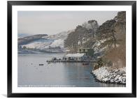 The end of Portree pier in winter, Framed Mounted Print