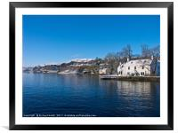 White and blue by Loch Portree, Isle of Skye,, Framed Mounted Print