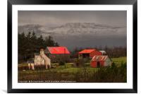 Red sheds, Framed Mounted Print