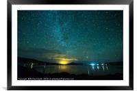 Milky Way from Sconcer quarry., Framed Mounted Print