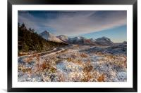 The red cuillin in winter, Framed Mounted Print