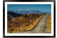 Following the Kylerhea road north., Framed Mounted Print