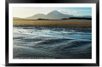 A sand hoppers view across Ashaig beach, Framed Mounted Print