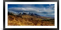 The actual Cuillin Hills, Framed Mounted Print