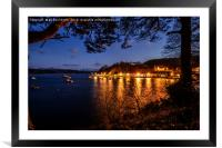 Portree pier at dusk #2, Framed Mounted Print