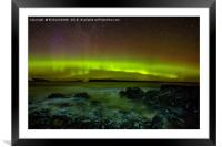 Aurora Borealis from Staffin beach #3, Framed Mounted Print