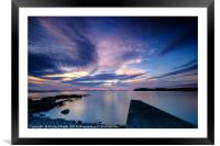 Light reflections from the Sgeir Lang Slipway, Framed Mounted Print