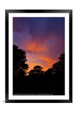 Sunset - Kearsney, Framed Mounted Print