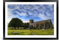 St Grwsts Church, Framed Mounted Print
