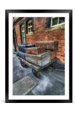 Luggage at the Station, Framed Mounted Print