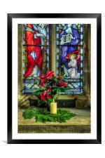 Christmas Poinsettia, Framed Mounted Print