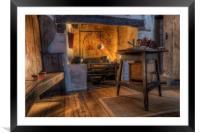 Olde Kitchen, Framed Mounted Print