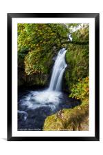 Snowdonia Waterfall, Framed Mounted Print