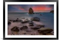 Rhoscolyn Rocks , Framed Mounted Print