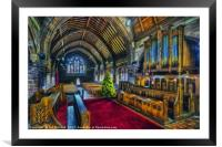 Christmas Church Service, Framed Mounted Print
