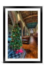 Church At Christmas, Framed Mounted Print