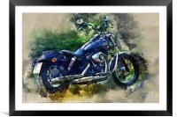 Harley Davidson, Framed Mounted Print