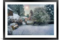 Snowy Park, Framed Mounted Print