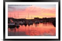 Scarborough Harbour Sunset, Framed Mounted Print