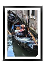 Sleeping Gondolier.., Framed Mounted Print