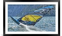 Windsurfer close up, Framed Mounted Print
