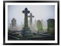 Ethereal Graveyard, Framed Mounted Print