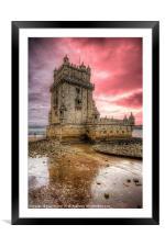 Torre de Belem Lisbon, Framed Mounted Print