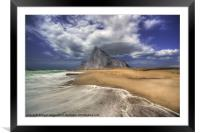 Lavante Over Gibraltar, Framed Mounted Print