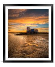 Lifeboat Station Sunset, Framed Mounted Print