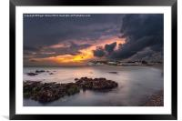Storm At Freshwater Bay, Framed Mounted Print