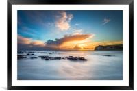 Freshwater Bay Beach Sunset, Framed Mounted Print