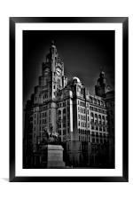 Liverpool Royal Liver Building, Framed Mounted Print