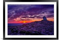 Sunrise From The Top Of Pen Y Fan  Brecon Beacons, Framed Mounted Print