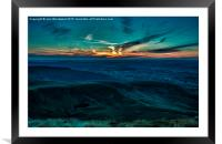 Sunset From Pen Y Fan Brecon Beacons, Framed Mounted Print