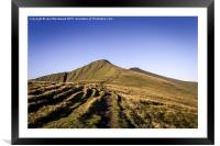 Pen Y Fan & Corn Du Brecon Beacons, Framed Mounted Print