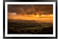 The Wye Valley, Framed Mounted Print