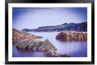 Rocks Saundersfoot, Framed Mounted Print