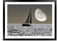 By the Light of the Silvery Moon, Framed Mounted Print