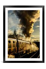 Steaming Ahead , Framed Mounted Print