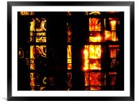 Fire Condo, Framed Mounted Print