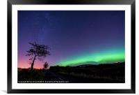 Aurora over Forfar Road, Framed Mounted Print