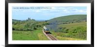 Diesel into ~Swanage, Framed Mounted Print