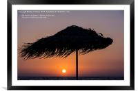 Blowing in the wind, Framed Mounted Print