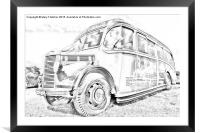 Old Fashioned Bus, Framed Mounted Print