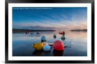 Buoys at Loe Beach, Framed Mounted Print