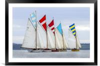 Falmouth working boats, Framed Mounted Print