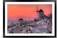Santorini, Greece, Framed Mounted Print